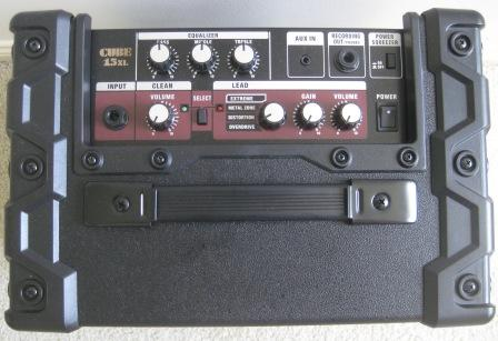 Control panel for Roland Cube-15XL guitar amplifier