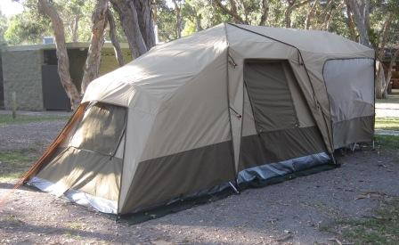 BlackWolf Turbo Plus 240 tent from the rear