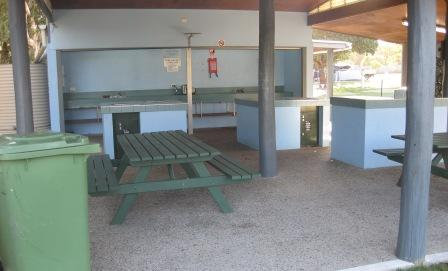 Camp kitchen on the northern side of the holiday park