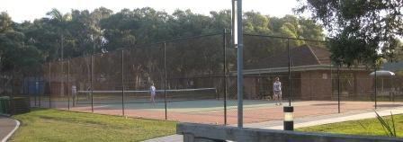 Full size tennis court was used constantly
