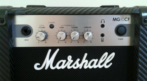 Marshall MG10CF amplifier control panel