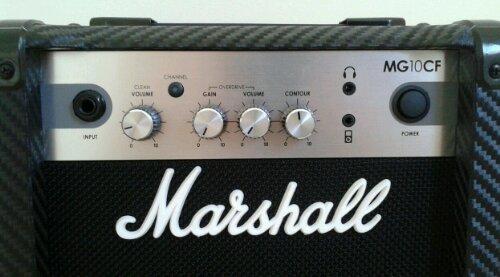 Marshall MG10CF amplifier control panel