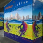 Bicentennial Bikeway coffee booth
