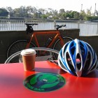 Long black coffee and my singlespeed at the Bikeway Coffee & Juice Bar