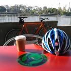 Long black coffee and my singlespeed at the Bikeway Coffee & Juice Bar