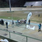 A race start at Repsych's Winter Track Racing Series