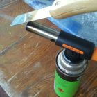 Paint scraper butane torch hot knife